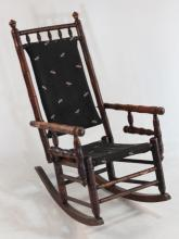 Country Maple Bamboo-Turned Rocking Chair