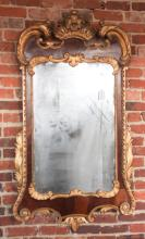 Chippendale Mahogany & Gilt Wood Mirror