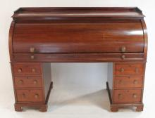 Regency Mahogany Cylinder-Roll Desk
