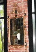 Chinese Chippendale Style Gilt Wood & Ebony Mirror