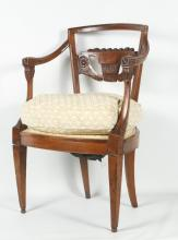 Charles X Fruitwood Arm Chair