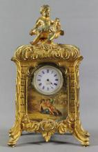 FRENCH BRONZE CABINET CLOCK