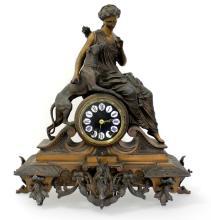 ANTIQUE VICTORIAN CARTUSC MANTLE CLOCK C. 1890'S