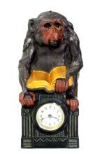 RARE ANIMATED MONKEY CLOCK GERMAN MOVEMENT