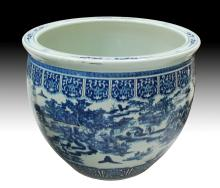 LARGE CHINESE PORCELAIN PLANTER H: 25 1/2
