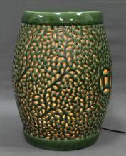 CHINESE PORCELAIN OPENWORKED LAMP