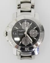 BAUME AND MERCIER 3 REGISTER CHRONOGRAPH  AUTOMATIC WATCH