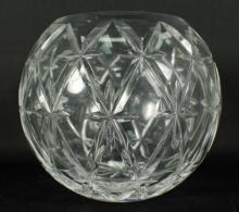 TIFFANY CUT GLASS ROUND VASE
