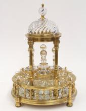 Baccarat France temple form Tantalus, circa 1900