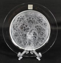 LALIQUE FROSTED PLATE