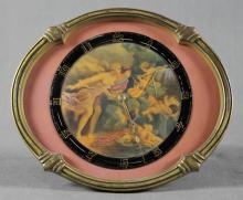 BRONZE AND PORCELAIN CLOCK