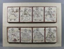 MULTIPANEL PERSIAN PAINTINGS ON WOOD