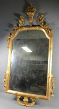 PERSIAN WOOD CARVED RECTANGULAR MIRROR