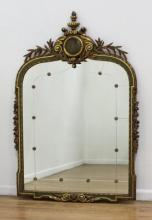 Late 19th C. Carved Gilded Figural Mirror 55