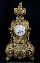 EARLY 19TH C. BRONZE MATLE CLOCK