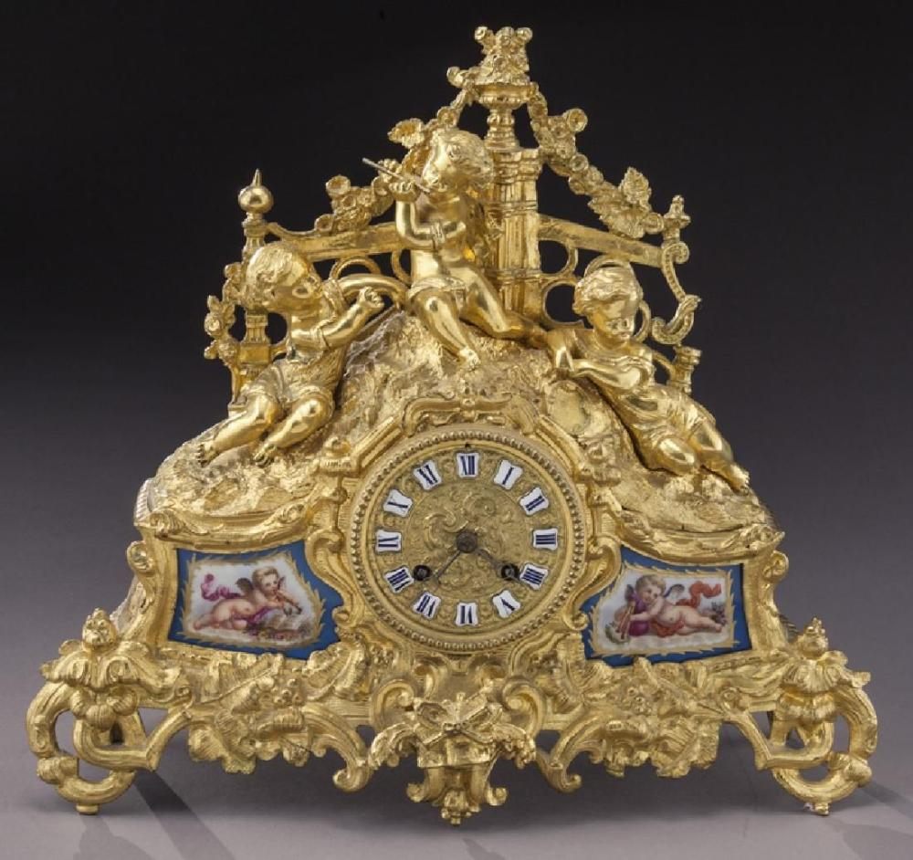 French Ormolu Cased Mantel Clock
