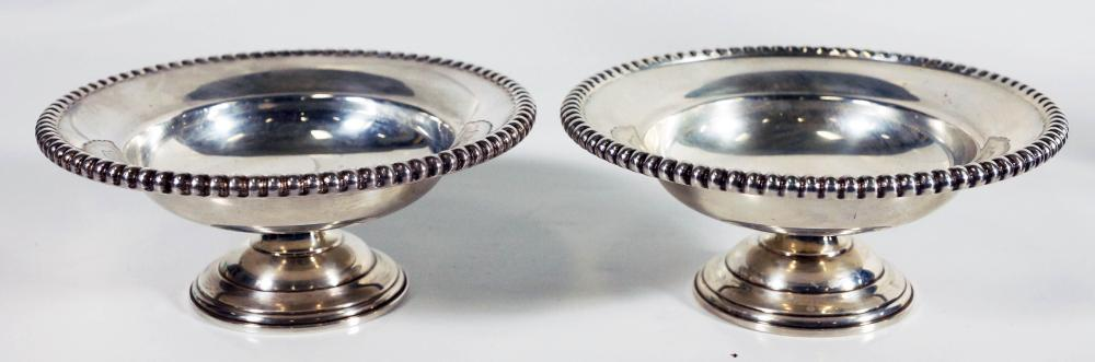 Pair Of Small Sterling Compotes