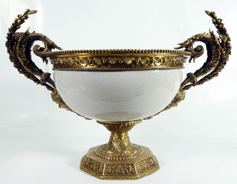 Porcelain & Bronze Mounted Jardiniere