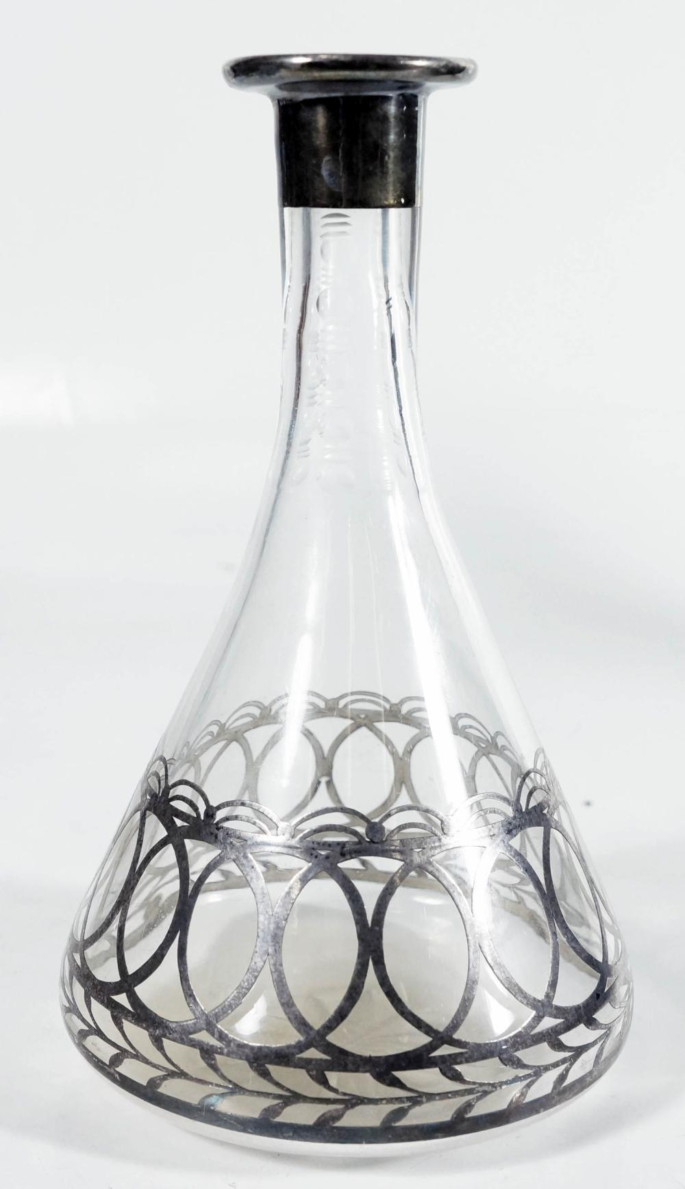 Silver Overlay Bottle