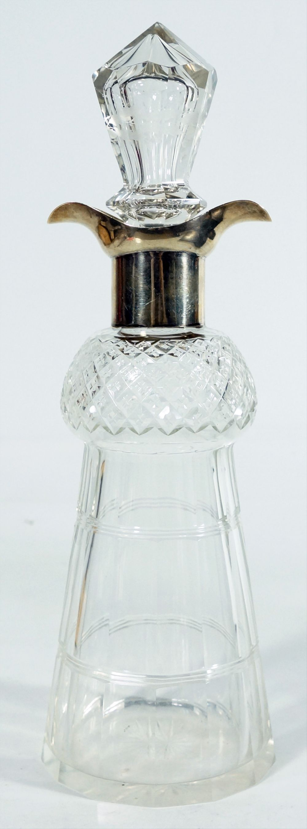 English Silver And Cut Glass Decanter