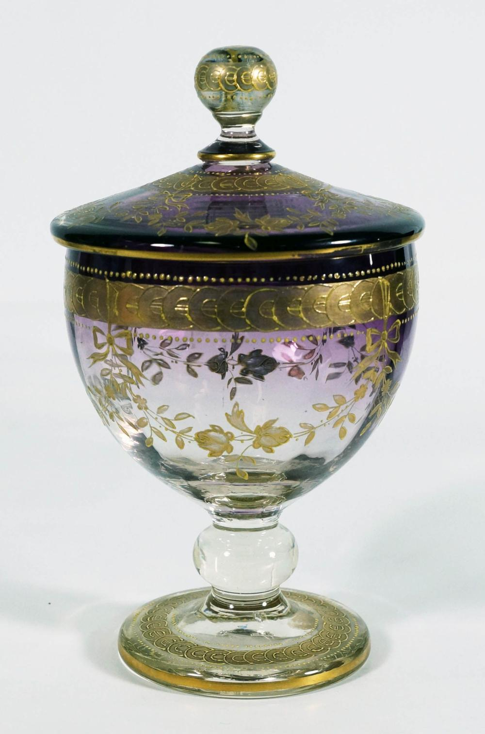 Gilt Decorated Covered Jar