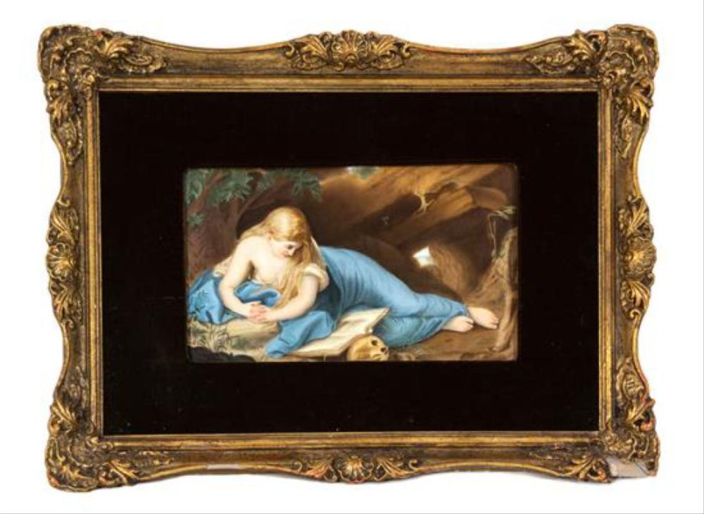 A Kpm Porcelain Plaque Of Mary Magadalene Height 7 X