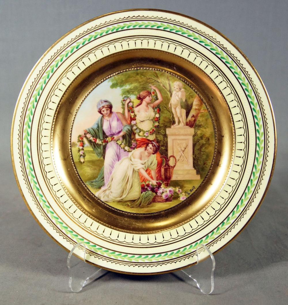 "Royal Vienna Plate Titled ""The Bachantes"""