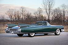 1959 Cadillac Eldorado Biarritz Convertible (Special order car including; one-of-one color of Kensington Green over white & One of 99 made with factory bucket seats)