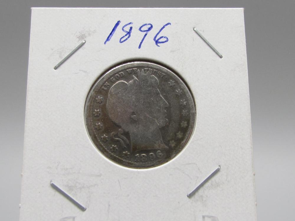 1896 Silver Barber Quarter