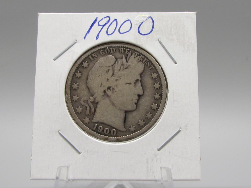 1900 O Silver Barber Half Dollar
