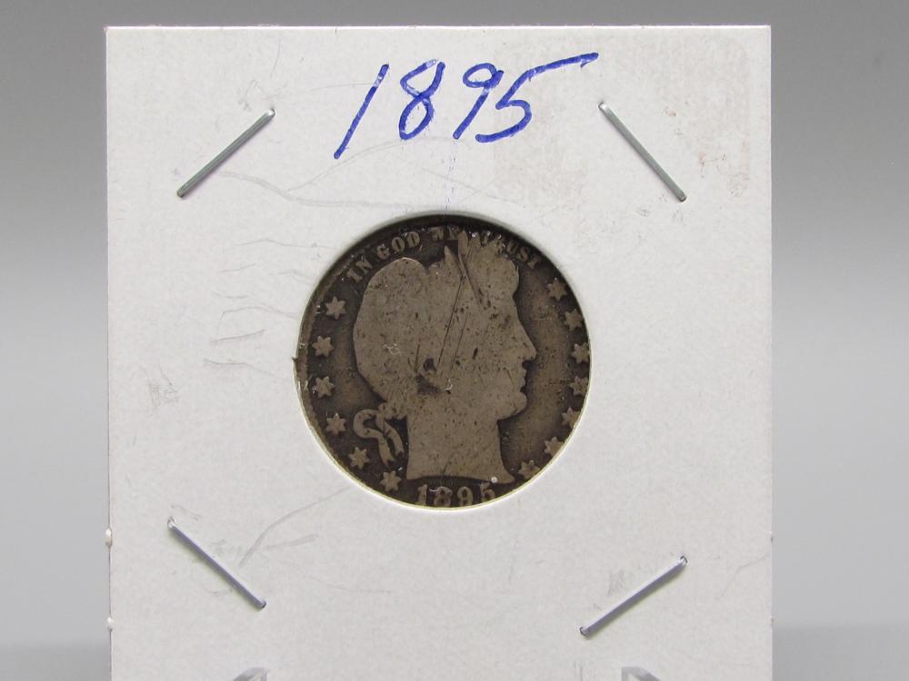 1895 Silver Barber Quarter Dollar