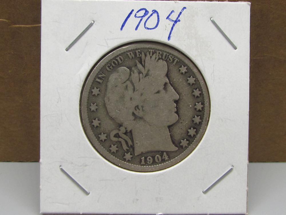 Barber Silver Half Dollar 1904