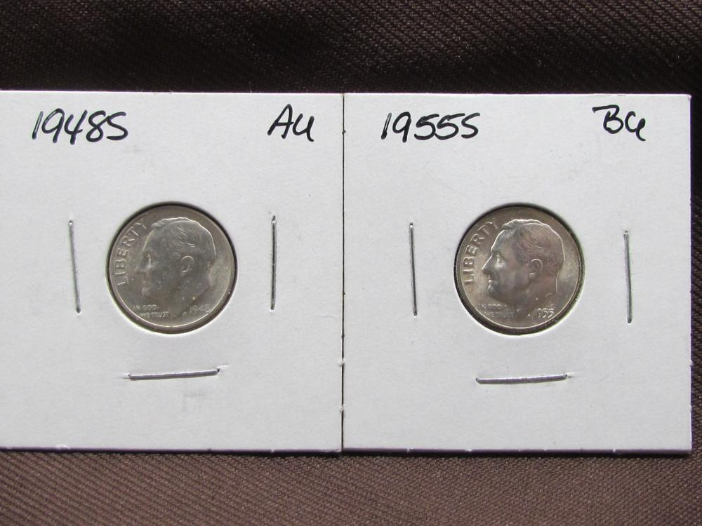 2 Silver Roosevelt Dimes