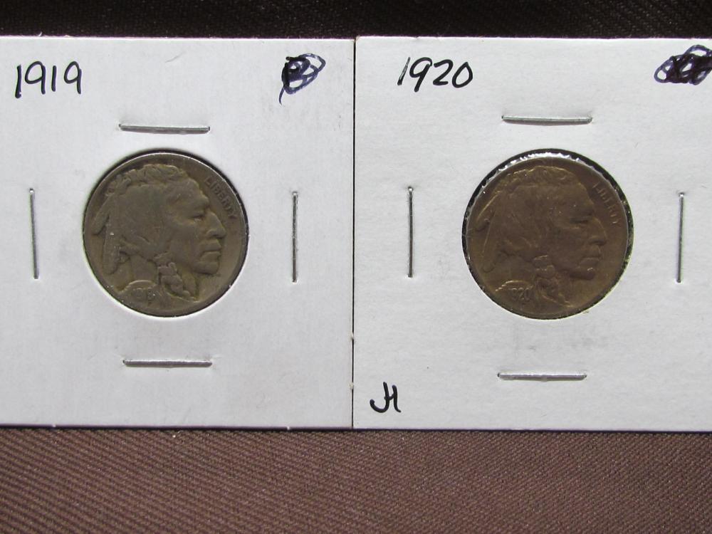 2 Buffalo Nickels