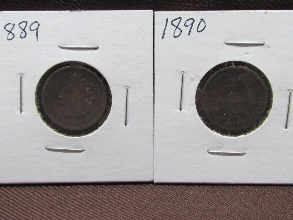 2 Indian Head Cents