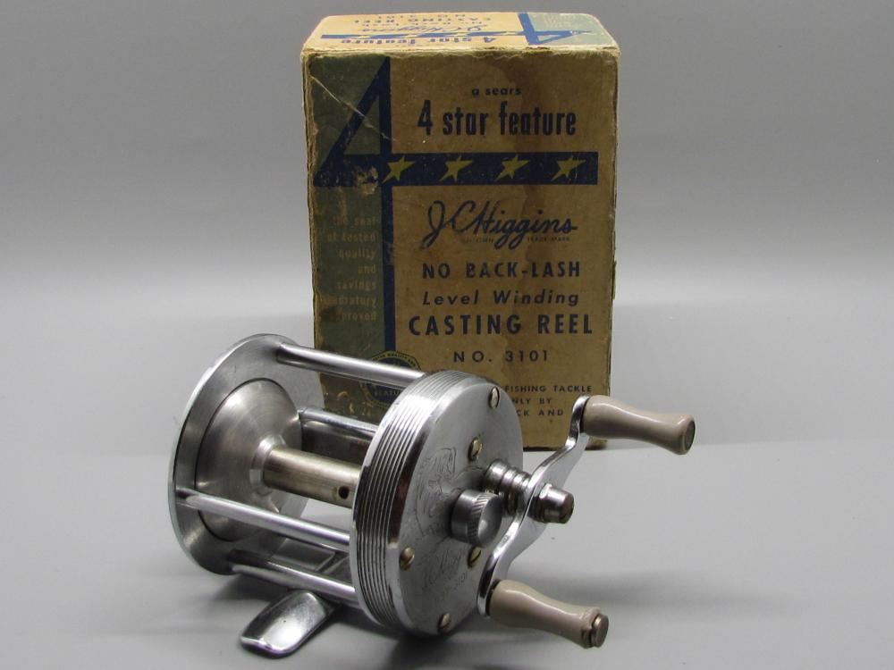 Vintage JC Higgins Fishing Reel.