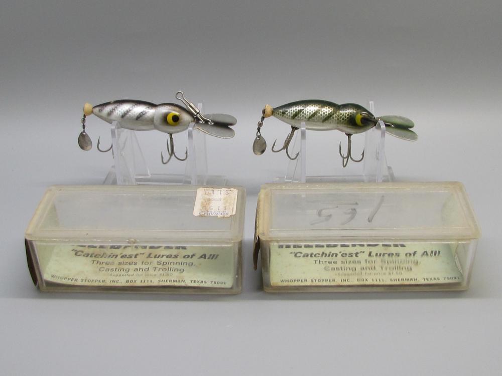 2 Vintage HELLBENDER Fishing Lures