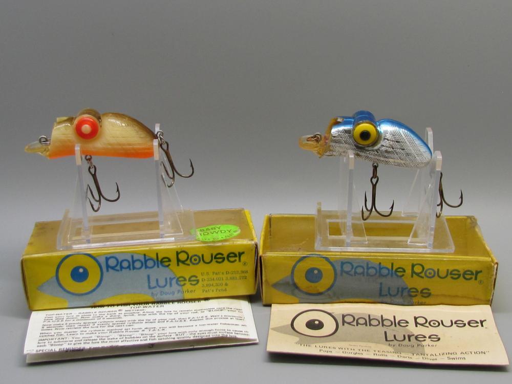 2 Vintage Rabble Rouser Fishing Lures