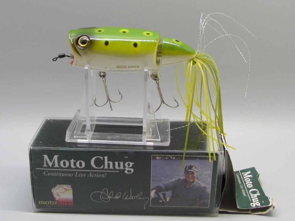 Vintage Moto Chug Fishing Lure.
