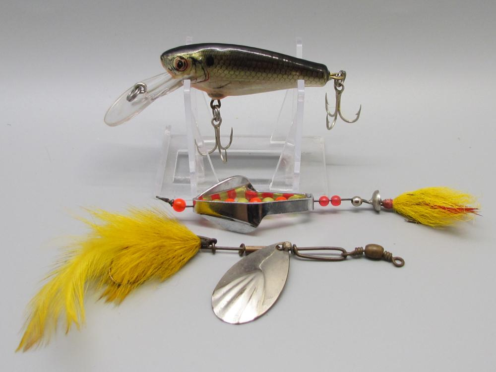 Three Unknown Fishing Lures