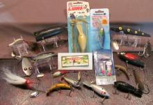 Fishing Lures, Reels and HO Train Cars #36