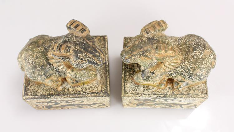 Pcs pair chip carved very large chinese hardstone seals l