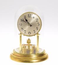 Antique Torsion Clock BADISCHE 400-DAY CLOCK c1900 Kienzle Pendulum Lantern Pinions 'Anniversary' Clock 5 Inch Dial Excellent Condition Collectible
