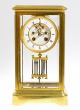 Antique Clock UNKNOWN FRENCH MANUFACTURER c1915 Running Mint Condition Original Parts Crystal Regulator w/ Bell Strike Temperature Compensating Pendulum