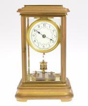 Burdick & Bowler ORIGINAL ANTIQUE ANNIVERSARY CLOCK 1908 Crystal Torsion Clock Jahresurenfabrik Movement 400-Day Clock Collectible