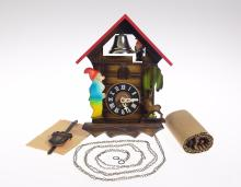 Vintage Cuckoo Clock REGULA MOVEMENT ONE-DAY CUCKOO CLOCK W/ ELF BELL RINGER c1965 Mint Condition Decorative Collectible Mechanical Clock