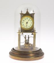 Philip Hauck Clock ANTIQUE PATENT PENDING 400-DAY CLOCK W/ HUBER TWIN LOOP COMPENSATING PENDULUM 1902 Torsion Clock Collectible