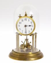Antique Torsion Clock PHILIP HAAS c1904-1912 Scarce 400-Day Clock 3 Ball Pendulum 4 Pillars Excellent Condition 'Anniversary' Clock Collectible