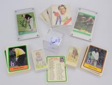 Golfing Collectibles GOLF TRADING CARDS & MEMORABILIA Signed Arnold Palmer Golf Ball Payne Stewart John Daly Cards Ryder Cup European Open PGA Tour