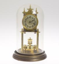 Collectible Antique Clock KIENZLE 400-DAY/TORSION CLOCK 1908 Gimbal Suspension Spring Saddle Very Good Condition Decorative 'Anniversary' Clock